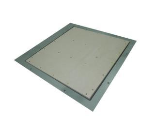 напольный металлический лючок под плитку