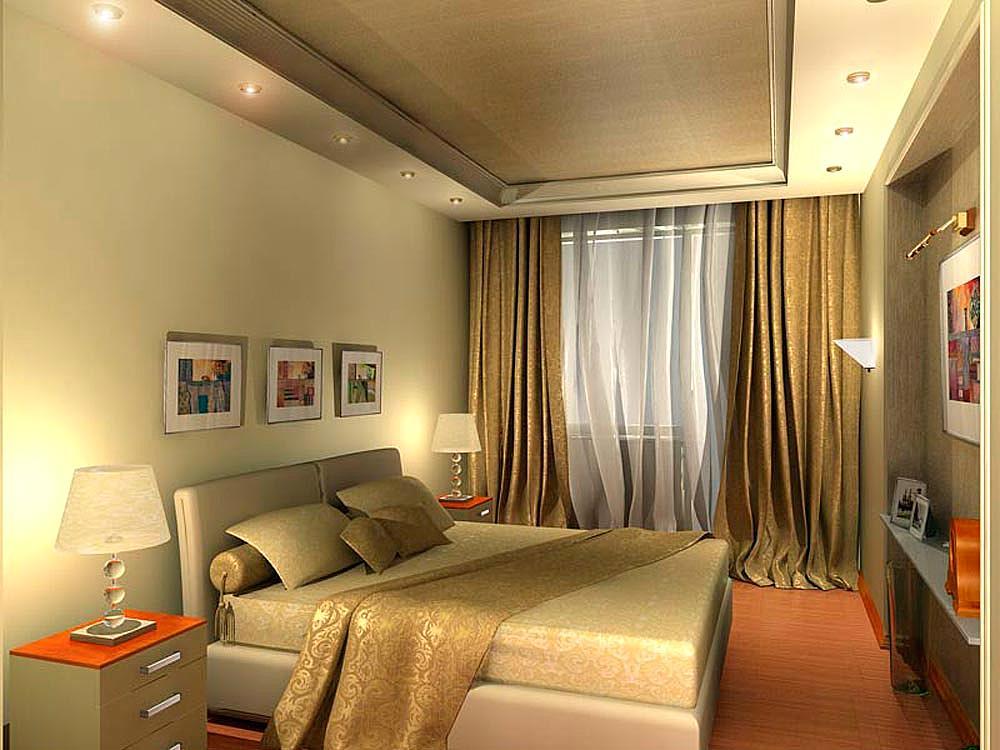 потолки в узких спальнях фото нас