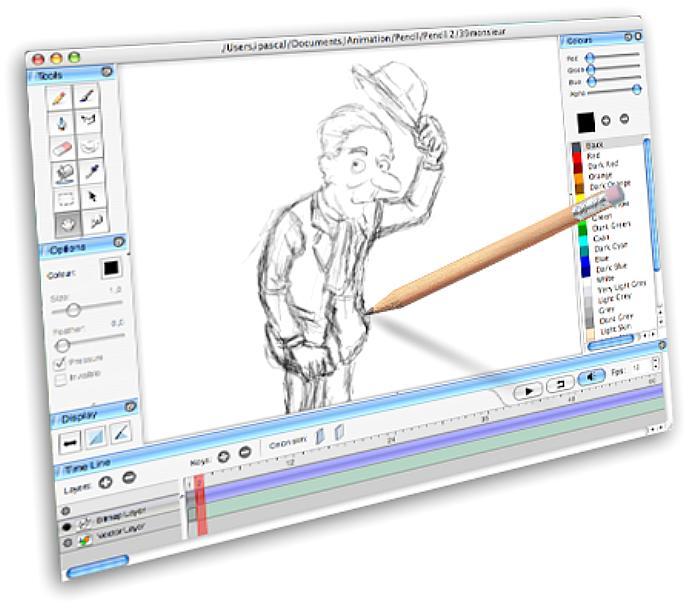 Создать на картинке анимацию